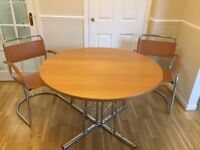 Maskrays round dining table and 4 chairs