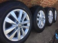 """Brand New 16"""" Genuine 2017 VW Transporter T6 T5 alloy wheels +new tyres T32 CAN POST"""