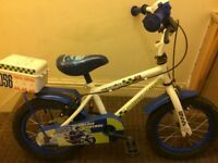Childs bike Police Patrol wheels size 14