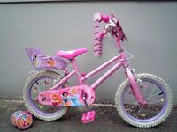 "(2140) 16"" 11"" DISNEY ENCHANTED DREAMS GIRLS CHILD MOUNTAIN BIKE BICYCLE Age: 5-7 Height:110-125 cm"