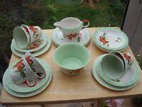Early 1950's Half Tea Set. (some small damage)