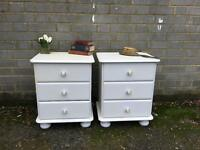 PINE BEDSIDE TABLES FREE DELIVERY PROJECT GOOD STURDY CONDITION
