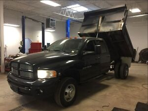 2004 Dodge Ram 3500 5.9 DIESEL! 8FT DUMP BOX! DUALLY! 4X4!