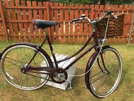 Retro raleigh bicycle