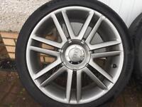 Audi S3 alloy wheels. 18 inch, Genuine 8P0601025AJ gunmetal grey