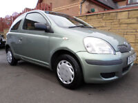 2005 TOYOTA YARIS 1.0 T2 MODEL, 3 DOOR, CHEAP INSURANCE, IDEAL FIRST CAR, 76000 MILES, NEW TYRES
