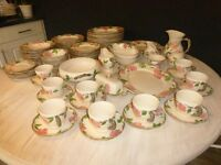 Vintage Dinner Set - 73 pieces of Franciscan Hand Painted Crockery