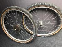 """1980's Rigida 26"""" wheels on Deerhead hubs"""