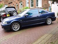 Rover Coupe 1.6 Tahiti Blue, Cream Leather ,MOT'D, nice example, getting rare , offers considered