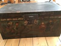 Antique Painted Chinese Wood Chest
