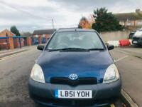 TOYOTA YARIS 2002 1.0L ONLY 27000 MILES 12 MONTH MOT IDEAL FIRST CAR CHEAP TO INSURE