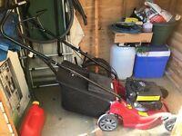 Mount field SP164 petrol lawnmower