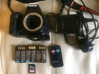 Pentax k-r with lens and accesories