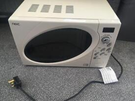 Next cream 800w microwave collect from DH4