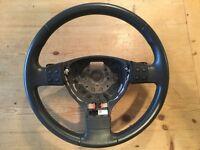 Multi function steering wheel with paddles-Mk5 Golf