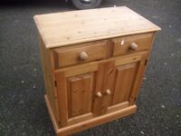 Great Solid Country Pine Small Sideboard Storage Cupboard