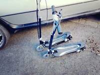 Two electric scooters