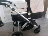 Froggy Magica Pram/Buggy including John Lewis lambskin, carrycot and buggy rain covers