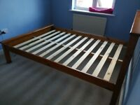Wooden bed frame (double)