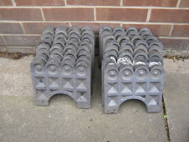 victorian hand made path edging tiles