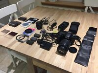Canon 50d DSLR Camera w/ 18-200mm & 50mm lens and much more
