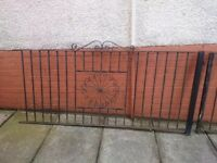 2 lengths of wrought iron fence