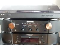 HIGH QUALITY MARANTZ AMP AND CD PLAYER - SONY TURNTABLE WITH USB RECORDING - WHARFEDALE SPEAKERS