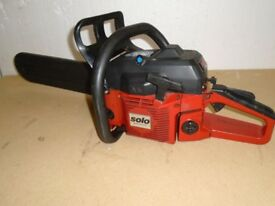 SOLO 645 CHAIN SAW PETROL 15 INCH CUT USED GOOD CONDITION
