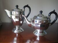 VINERS EPNS MATCHING TEA POT AND COFFEE JUG - (Kirkby in Ashfield)