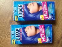 Electric blue hair dye, brand new in box