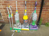3 DYSON VACUUM CLEANERS FOR SPARES OR REPAIRS ONLY