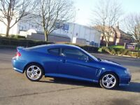 Breaking 2005 Hyundai Coupe 2.0 Se. Door wing exhaust engine gearbox seat. Blue colour code XX