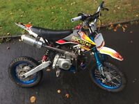 150cc small wheel crosser an 125cc pit bike for sale what you got for them both?