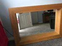 SOLID OAK M AND S MIRROR