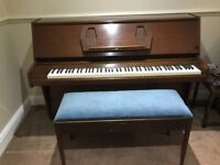 Challen 988 upright piano with stool
