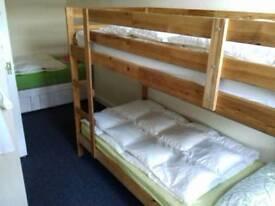 Wood bunk bed+2 mattress