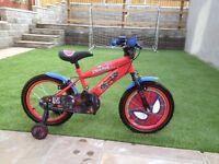 "Boys 16"" Spiderman Bike in excellent condition."