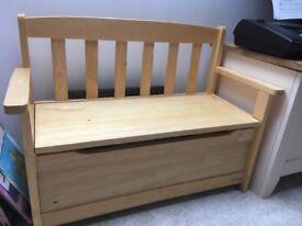 Wooden John Lewis storage bench/ toy chest