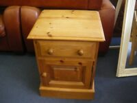 PINE BEDSIDE CABINET at Haven Housing Trust's charity shop