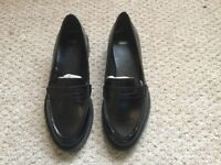 Black Leather Loafers, size 6, never worn