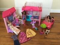 Barbie bundle with Barbie car and Barbie house