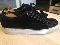 EASTER SALE! Luxurious Lanvin Toe Cap mens calf skin sneakers, black 43/uk9, RRP £315