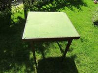 Antique type purpose built Playing card's table.
