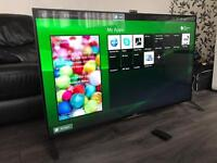 """Sony Bravia 55"""" 4K UHD Smart 3D Cinema Tv 2160p Built in Camera 4 x 3D Glasses Immaculate Condition"""