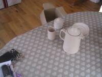 Govancroft Stoneware Oatmeal Coffee Set