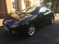 2001 FORD PUMA BLACK 1.7 ** FULL BLACK LEATHER * ALLOYS * CD * AIR CON * TINTED * LONG MOT * V5