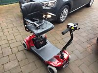 Pro Rider Elite Mobility Scooter in Red. Nearly new.