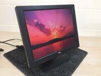 "TVS 15.1"" LCD TFT Monitor Display for Epos POS Till, Computer VGA Cable & PSU"