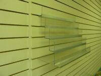 5 tier acrylic slatwall racking, 600mm wide