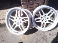 18 inch wheels x2 to fit BMW Italian made paint work needs attention